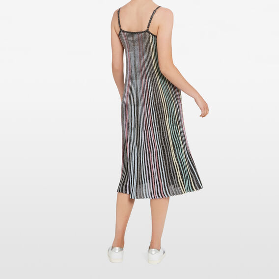 LUREX STRIPE DRESS  MULTI  hi-res