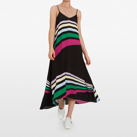 RAINBOW RAYS MAXI DRESS  MULTI  hi-res