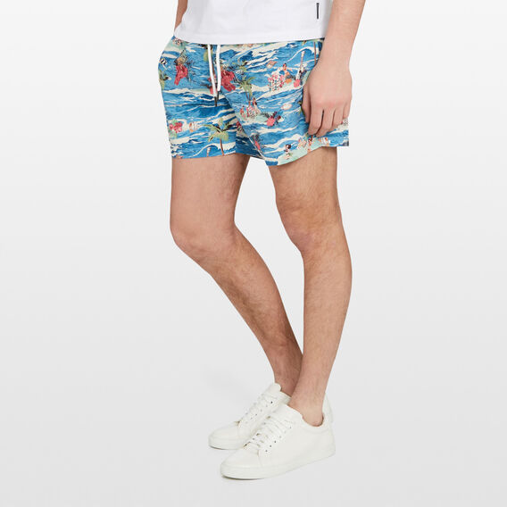 VINTAGE HAWAII SWIM SHORT  MULTI  hi-res