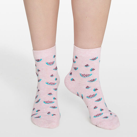 WATERMELON SOCKS  PINK/MULTI  hi-res