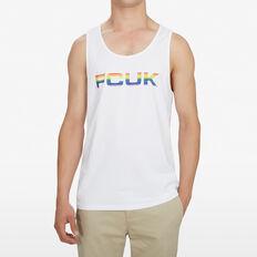 FCUK PRIDE SINGLET  WHITE  hi-res