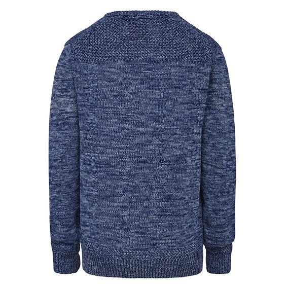 CHUNKY CREW NECK KNIT  RAW  hi-res