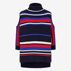 APRES STRIPE CUT OUT SHOULDER KNIT  MULTI  hi-res