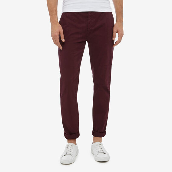 REGULAR FIT STRETCH CHINO PANT  PLUM  hi-res