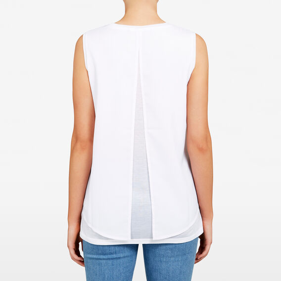 SPLICED LAYERED TANK  SUMMER WHITE  hi-res