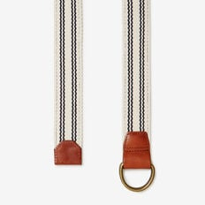 RESORT STRIPE D-RING BELT  ECRU/NAVY  hi-res