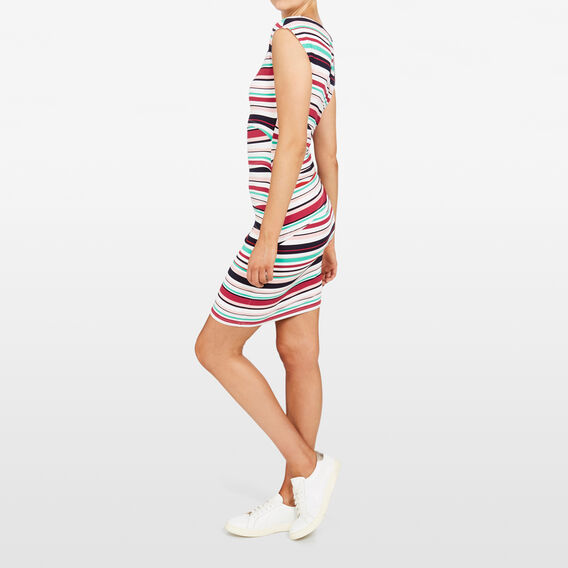 STRIPE BODY CON DRESS  MULTI  hi-res