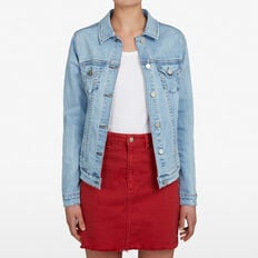 STRETCH DENIM JACKET  LIGHT STONE WASH  hi-res