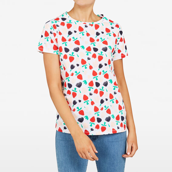 MIXED BERRY PRINTED TEE  NOCTURNAL MULTI  hi-res