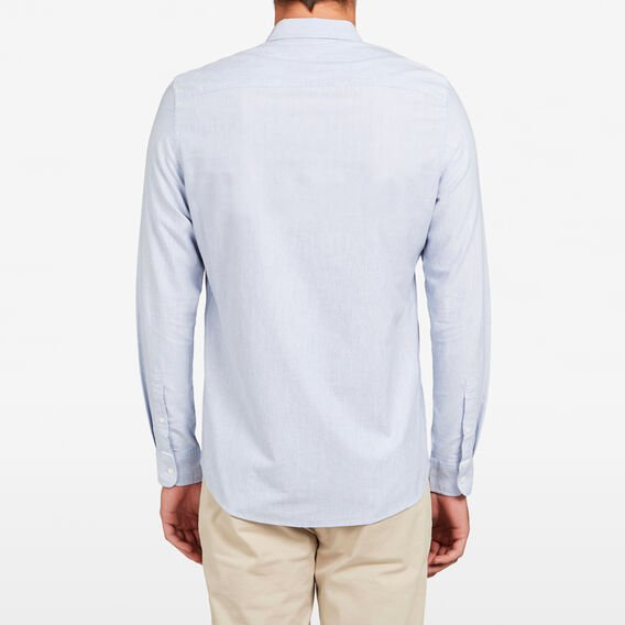 CHALK BLUE MELANGE CUSTOM FIT SHIRT  CHALK BLUE MELANGE  hi-res