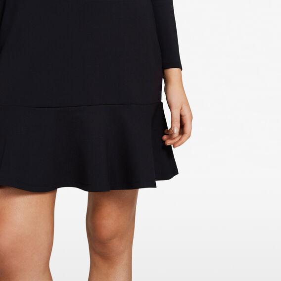 FIT AND FLARE DRESS  BLACK  hi-res