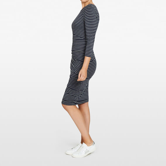 BODYCON STRIPE DRESS  NOCTURNAL/GREY MARLE  hi-res