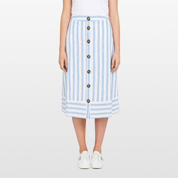 SEA BREEZE STRIPE MIDI SKIRT  SEA BLUE/SUMMER WHIT  hi-res