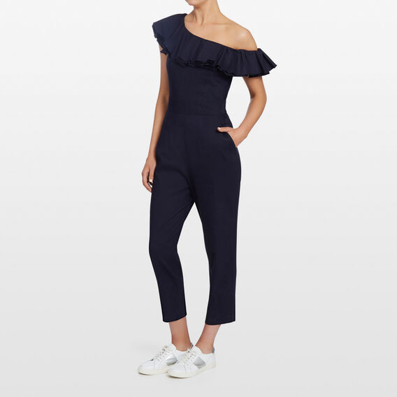OFF SHOULDER FRILL JUMPSUIT  NOCTURNAL  hi-res