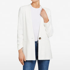 RELAXED BLAZER  SUMMER WHITE  hi-res