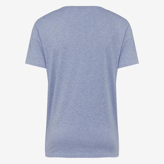 CLASSIC V NECK T-SHIRT  MID BLUE MEL  hi-res
