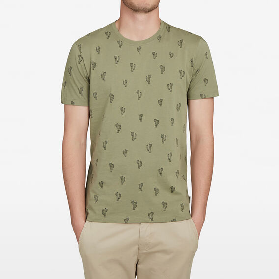 CACTUS ALL OVER T-SHIRT  OLIVE  hi-res