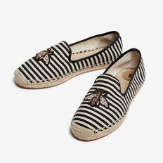 BEE ESPADRILLE  BLACK/WHITE MULTI  hi-res