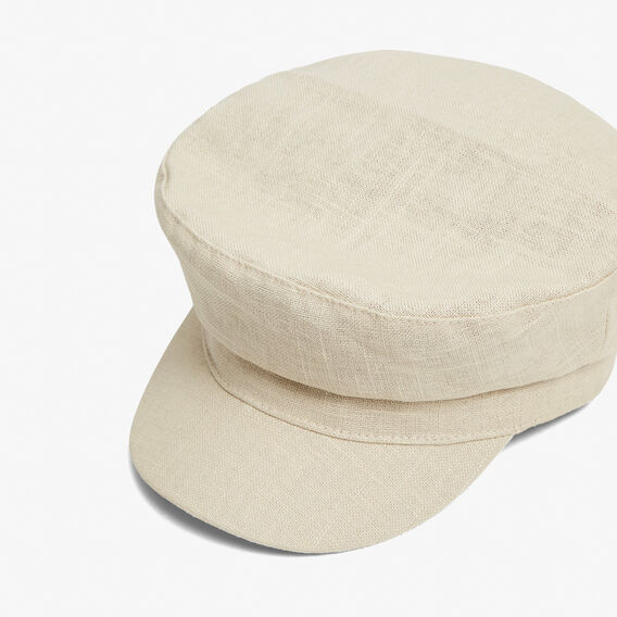 LINEN PAPERBOY HAT  NATURAL  hi-res
