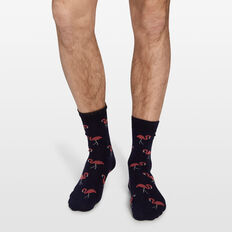 FLAMINGO 1PK SOCKS  MARINE BLUE  hi-res