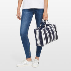 STRIPED BEACH BAG  NOCTURNAL/WHITE  hi-res