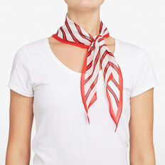 STRIPED PRINT NECKERCHIEF  MULTI  hi-res