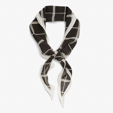 CHECK ME OUT NECKERCHIEF  BLACK/SUMMER WHITE  hi-res