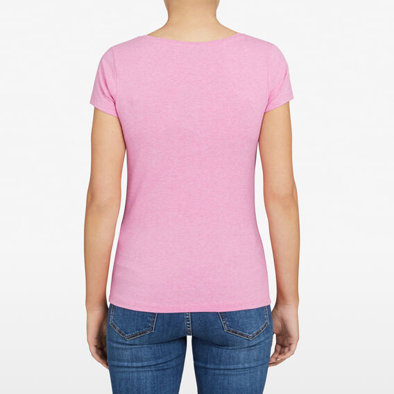 HAYLEY STRETCH SCOOP NECK TEE  PASTEL FUSCHIA MARLE  hi-res