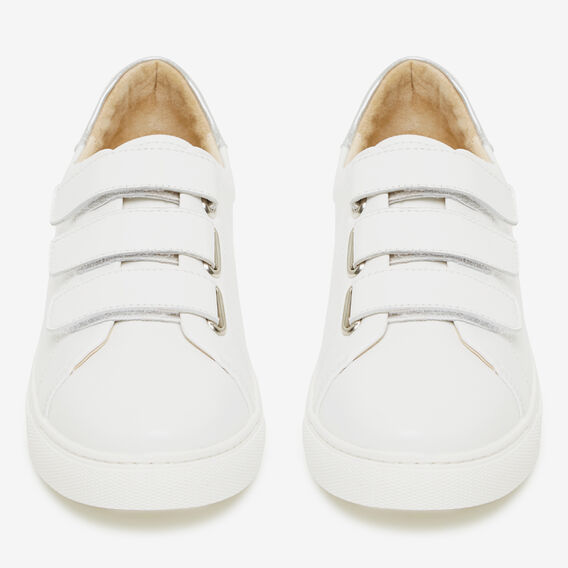 VELCRO LEATHER SNEAKER  WHITE  hi-res