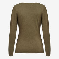 HAYLEY LONG SLEEVE TEE  KHAKI MARLE  hi-res