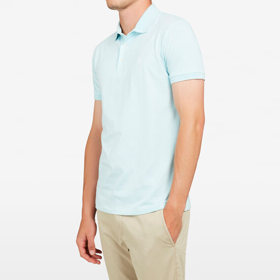 HAMPTON POLO  AQUA  hi-res