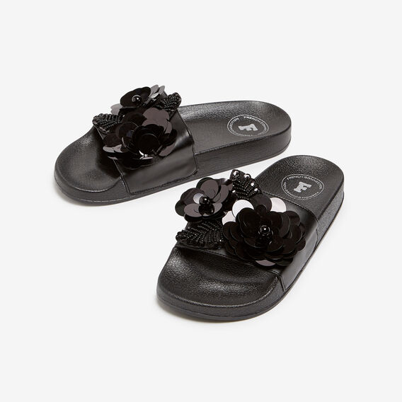 SPARKLE SLIDE  BLACK  hi-res
