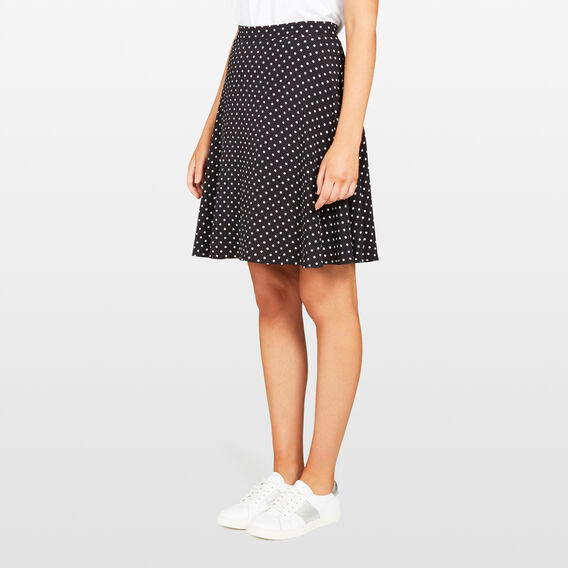 SPOT PRINTED SWING SKIRT  BLACK/ SUMMER WHITE  hi-res