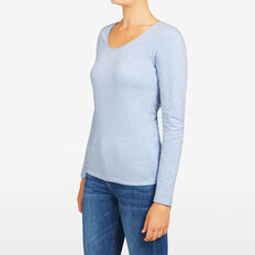 HAYLEY LONG SLEEVE SCOOP NECK  ICEBERG MARLE  hi-res