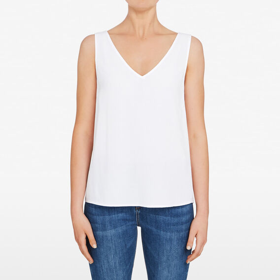 V NECK CAMI  SUMMER WHITE  hi-res