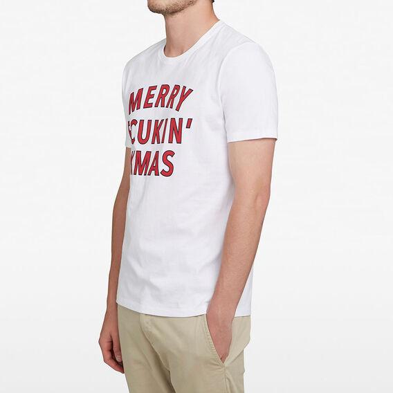 MERRY FCUKIN' XMAS T-SHIRT  WHITE  hi-res