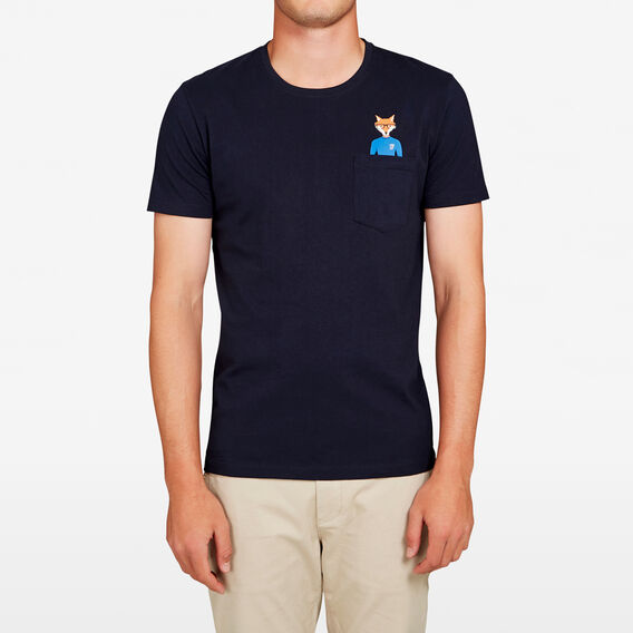 RUDE FOX POCKET T-SHIRT  MARINE BLUE  hi-res