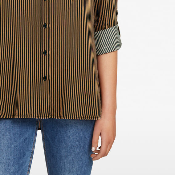 STRIPE SHIRT  TAN/BLACK  hi-res