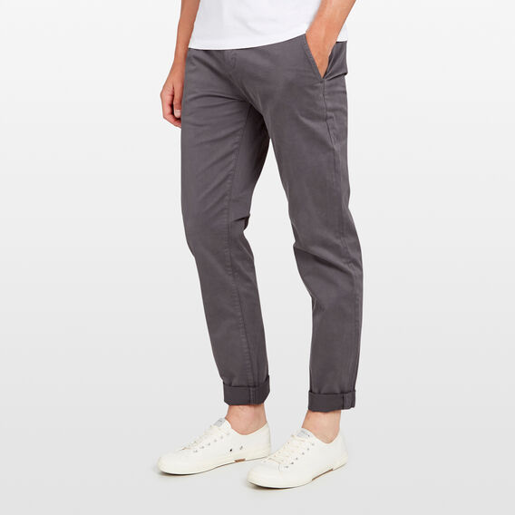 REGULAR FIT STRETCH CHINO PANT  CHARCOAL  hi-res