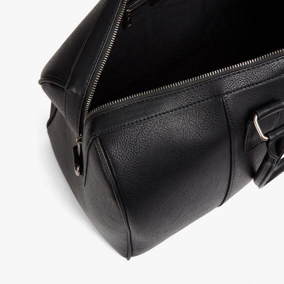 LEATHER LOOK WEEKENDER BAG  BLACK STRIPE  hi-res