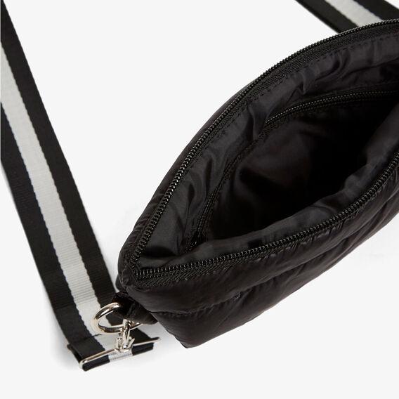PUFFER ACROSS BODY BAG  BLACK  hi-res