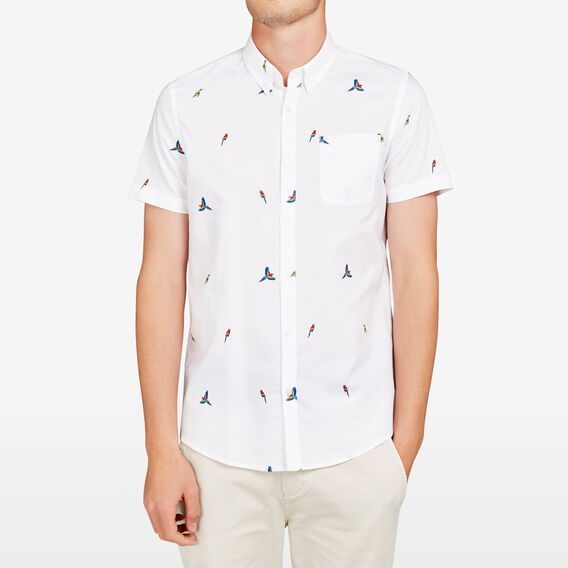 PARROT OXFORD REGULAR FIT SHIRT  WHITE  hi-res