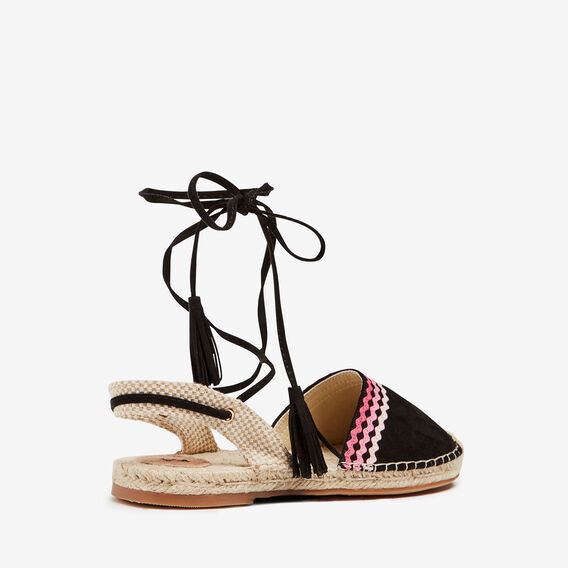 RIC RAC TIE UP ESPADRILLES  BLACK/MULTI  hi-res