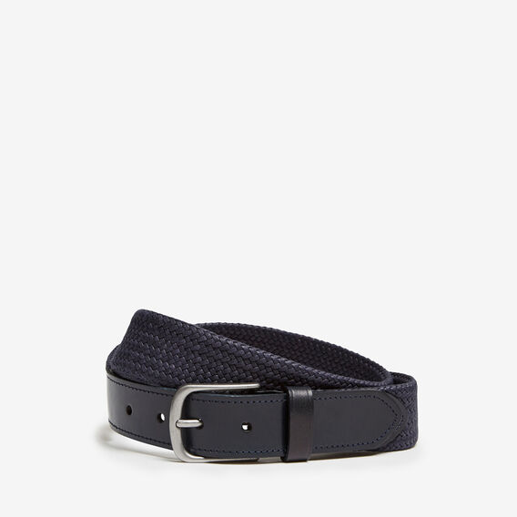 VACATION PLAITED LEATHER BELT  MARINE BLUE  hi-res