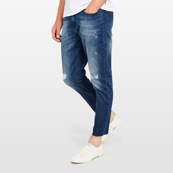 SLIM TAPERED CROP STRETCH JEAN  MID AUTHENTIC  hi-res