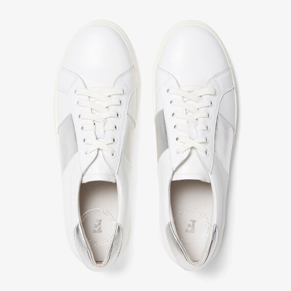 SIDE STRIPE SNEAKER  WHITE/SILVER  hi-res