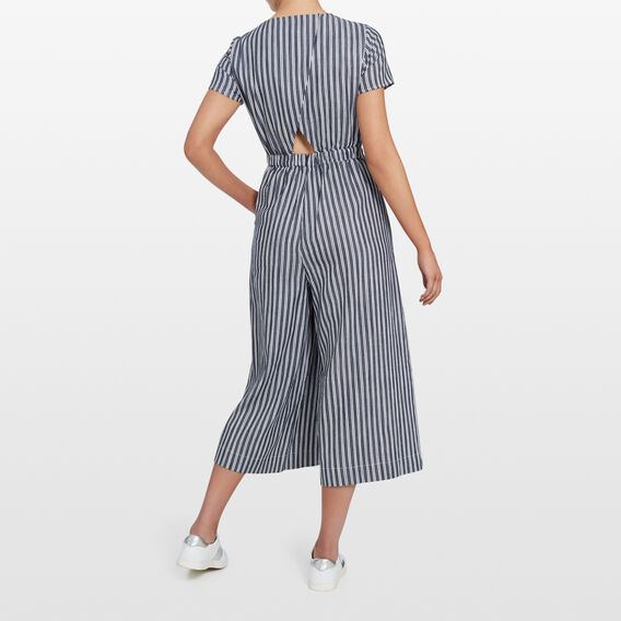 CROSS BACK JUMPSUIT  NAVY/SUMMER WHITE  hi-res
