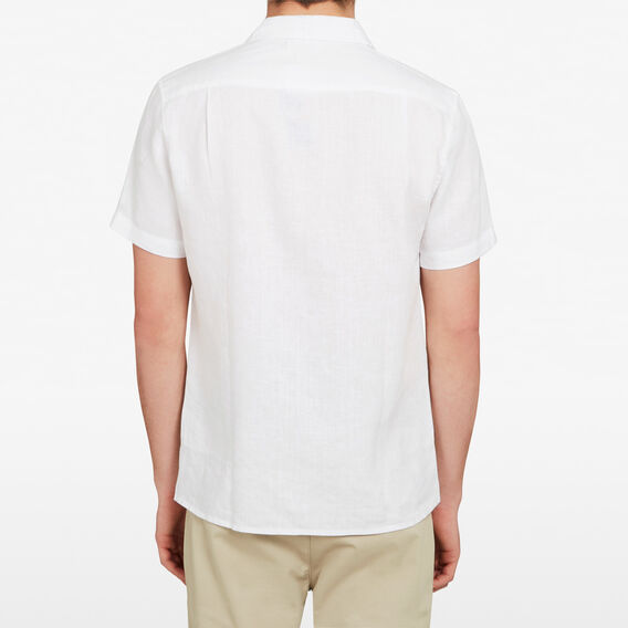 CAMP COLLAR LINEN CLASSIC FIT SHIRT  WHITE  hi-res