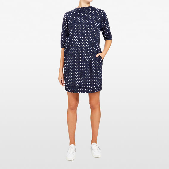 FOIL SPOT SWEATER DRESS  NOCTURNAL/SILVER  hi-res