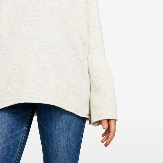 FLOSSY BELL SLEEVE KNITS  OATMEAL MARLE  hi-res